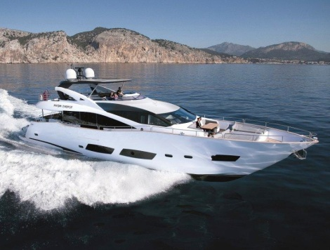 "Sunseeker Monaco guests will enjoy the Monaco Historic Grand Prix from the 28 Metre Yacht ""HIGH ENERGY"", provided by Sunseeker Charters"