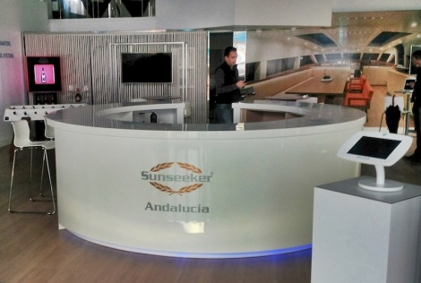 Modern, hi-tech and highly prestigious, the new Sunseeker Andalucia office in Puerto Banus is an impressive sight