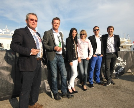 Members of the Sunseeker France team attended the Sunseeker Captains Party