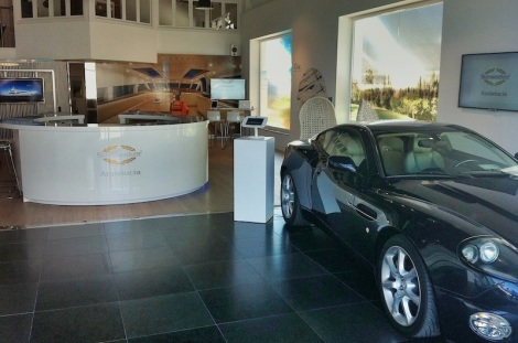 The new Puerto Banus office offers an exceptional space in which to showcase the Sunseeker product