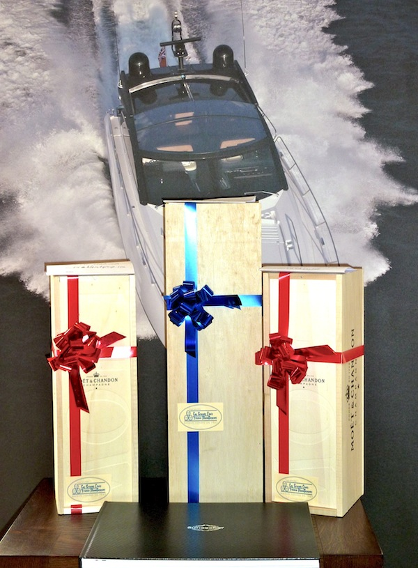 3 lucky winners for these bottles of Moet et Chandon champagne were chosen in the Sunseeker Monaco Prize Draw