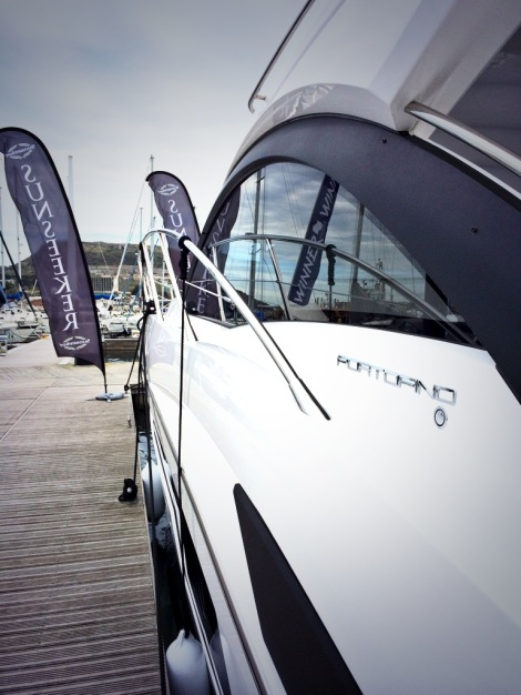 The Sunseeker Portofino 40 was exhibited with Sunseeker Poole and Sunseeker Torquay at Portland Marina on 12th and 13th April