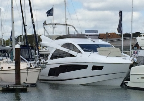 The latest addition to the Sunseeker flybridge range, the Manhattan 55, was also on display at the Swanwick Easter Boat Show