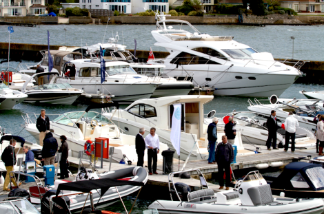 The Sandbanks Boat Show, pictured here last year, attracts many local residents from the Poole area