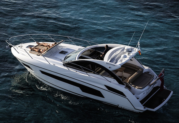 The Portofino 40 will be on display with Sunseeker Poole at the Sandbanks Boat Show from the 10-11th May