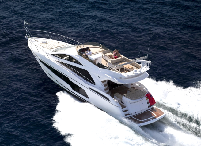 The Sunseeker Manhattan 55 will also feature at the 2-day boat show at Saltern's Marina