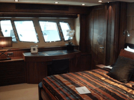 """Featuring a customised interior layout, accommodation on board the 80 Yacht """"ABBY GRACE"""" is luxurious and comfortable"""