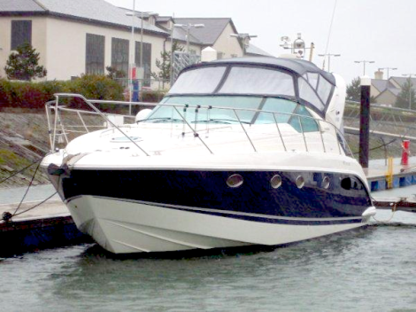 "Sunseeker Brokerage listing ""LOLA"",  a Fairline Targa 40, will also be exhibited at the All Wales Boat Show"