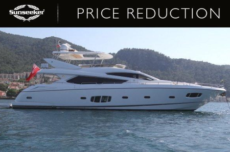 """Sunseeker London are now asking €2,500,000 ex Tax (from £2,500,000) for the 80 Yacht """"ABBY GRACE"""""""