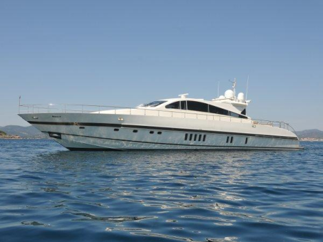"The Leopard 27M Open ""NAISCA IV"" is listed for sale with Sunseeker Cannes, asking €1,175,000 ex Tax"