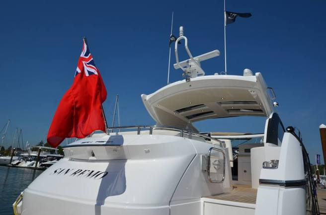 Perfect cruiser: The San Remo 485 is on display in Swanwick at BMYS