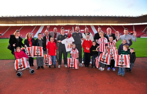 U Support raise funds for children with life limiting conditions, disability and disadvantages to attend football matches across the UK - Southampton FC, pictured below with 'U Support Kids' is an official partner of Sunseeker International