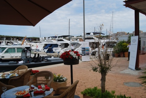 Port Adriano provided an excellent backdrop to the stunning selection of Sunseeker yachts on display