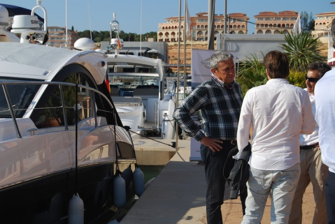Clients test drove the Porsche cars from Palma to the home of Sunseeker Mallorca in Port Adriano, before boarding the Sunseekers on display