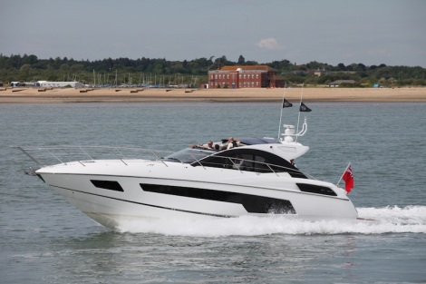Sleek and powerful: The Sunseeker San Remo was certainly the star of the day for us
