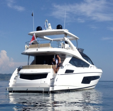 Casting a stunning image on the water, it isn't hard to see why the new 75 Yacht has been so popular for 2014