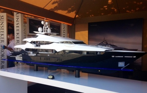 This Sunseeker 155 Yacht model was a real head turner as visitors to the show attended the Sunseeker stand
