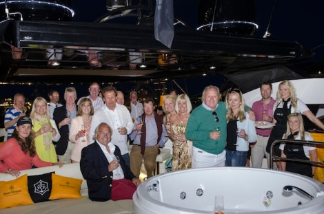 "Great fun had by all: Saturday night gave Sunseeker Monaco and Sunseeker Charters a wonderful opportunity to greet clients and friends onboard ""HIGH ENERGY"""