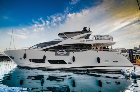 "Sunseeker Charters' 28 Metre Yacht ""HIGH ENERGY"" was home to Sunseeker Monaco's parties over the Historic Grand Prix weekend"