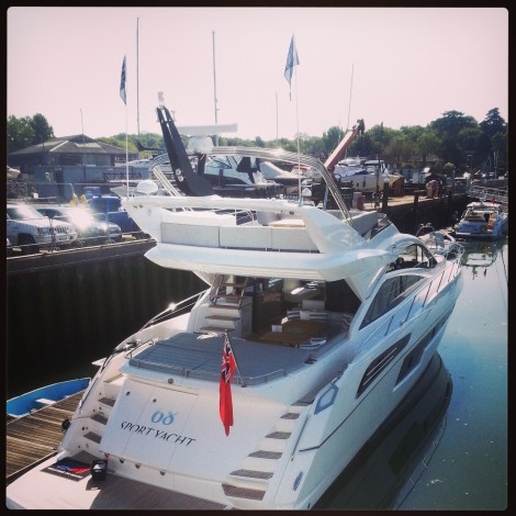 The 68 Sport Yacht is one of the stars of the show at the British Motor Yacht Show this weekend