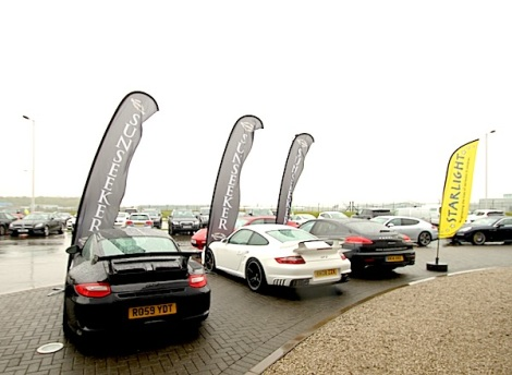 Starlight raised over £9,000 at the Porsche Experience Centre with Sunseeker London and Porsche Cars GB