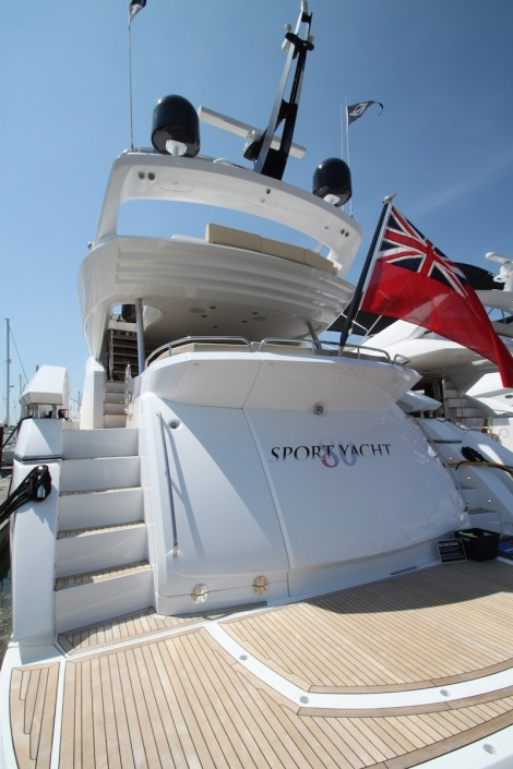 One of the largest yachts on display at BMYS - the 80 Sport Yacht