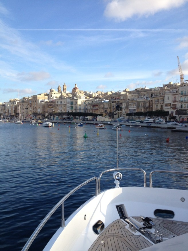 Cruising through Valetta as part of her route, the new 75 Yacht performed beautifully in tough conditions later in the journey