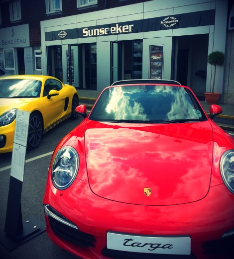Porsche Cars GB have 5 amazing cars on display with Sunseeker for guests to view at the British Motor Yacht Show