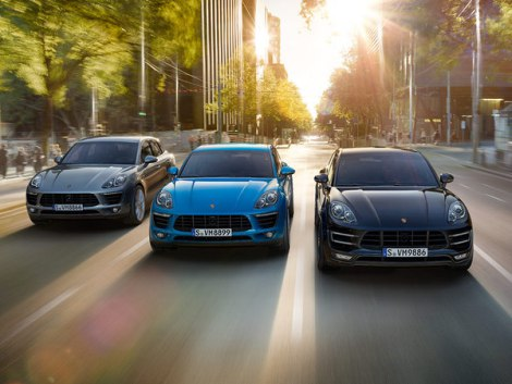 The selection of Porsche cars at the Sunseeker Mallorca Open Day included the all-new Macan