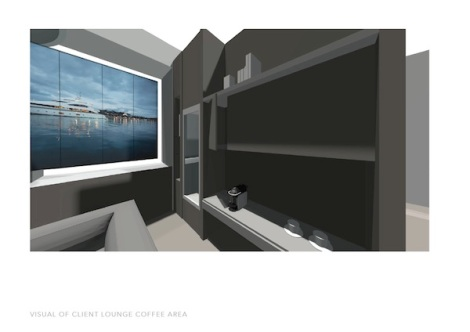 The new interiors of the Sunseeker London office, designed by Michael Jewitt, combine modern technology with contemporary finishes