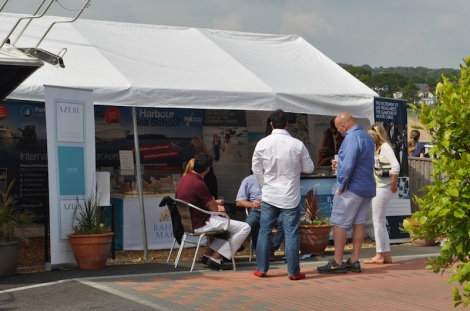 Sunseeker Poole thanked property firm Azure for their involvement at the Portofino 40 Open Weekend