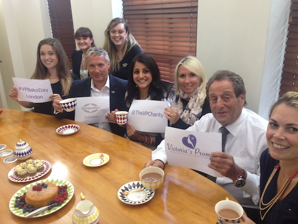 Sunseeker London show their support of Victoria's Promise and #VPBakeday