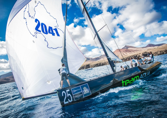 Team Aqua, pictured here at the Calero Marinas meeting, are one of the leading teams in the 2014 Championship, which will be travelling to Sotogrande on 25-29th June