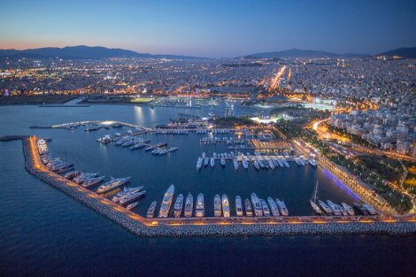 Flisvos Marina is a popular option for Greek superyacht owners, with good facilities and access