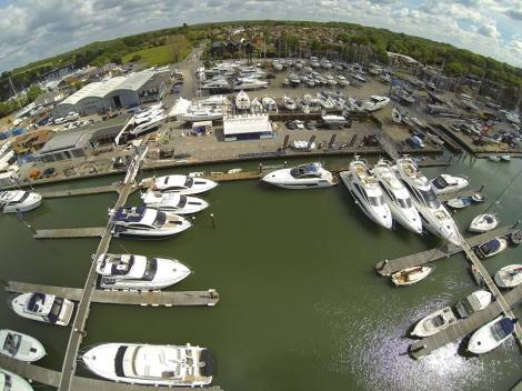 Premier Marinas Swanwick, pictured here at the BMYS in May, will be home to the Sunseeker Collection