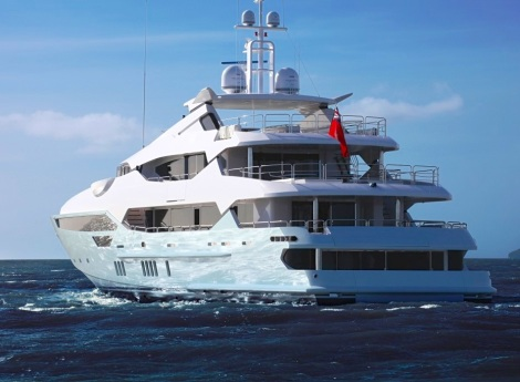 The 155 Yacht will make her yacht show debut at Monaco in September