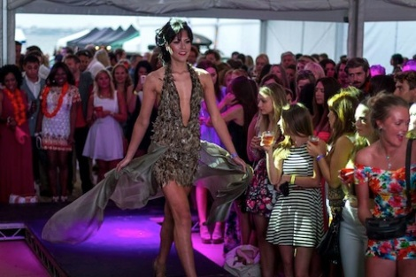 Models took to the catwalk for the 'seek the sun' fashion show, showcasing a variety of designers