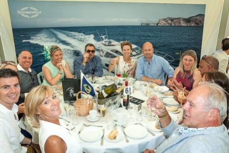 Sunseeker clients enjoyed a lavish lunch and exciting day of beach polo in one of the South Coast's most exclusive settings