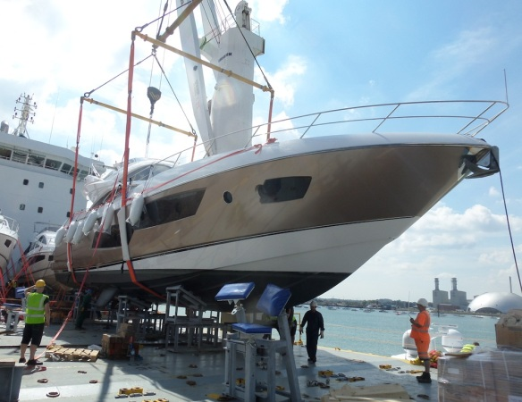 "In addition to ""ALFA QUATTRO"", Sunseeker London have shipped a 80 Sport Yacht and a Manhattan 55 to France ahead of the Cannes Boat Show in September"