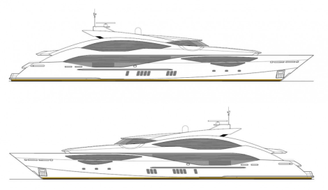 The Sunseeker 168 Sport Yacht is a fully customised tri-deck superyacht, due for completion in 2017