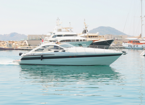 "The Pershing 52 ""CASPER A"" was taken in part exchange against the Manhattan 70, as is offered for sale by Sunseeker London"