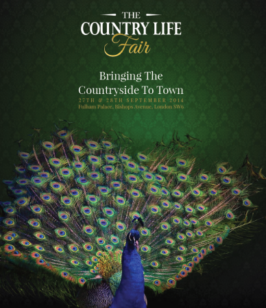 The Country Life Fair will be held at Fulham Palace from 27th to 28th September 2014