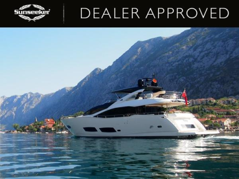 """The 2013 Sunseeker 28 Metre Yacht """"ANYA"""" is for sale with Sunseeker London"""