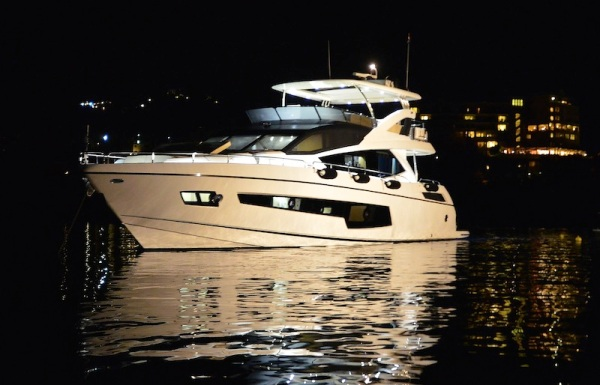 """The Sunseeker 75 Yacht """"FINEZZA"""" was the star of the Sunset in Corfu event"""