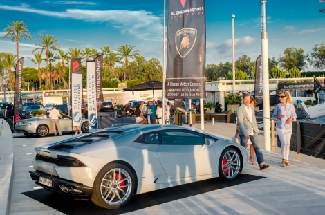 Guests arrived at the new capitanerie quay at Port Canto, to an array of stunning luxury cars and Sunseeker motor yachts