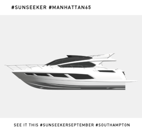 The new Sunseeker Manhattan 65 will make its World Premiere at the PSP Southampton Boat Show this September 12th-21st