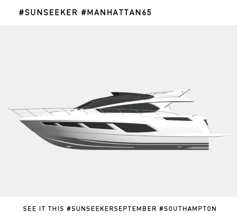 The brand new Sunseeker Manhattan 65 will make her debut at the 2014 Southampton Boat Show
