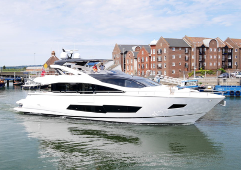 The new Sunseeker 86 Yacht will launch at Southampton Boat Show