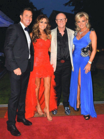 Ashley and Dawn Ward pictured with John and Clare Caudwell at last year's Animal Instincts Crème de le Crème Ball
