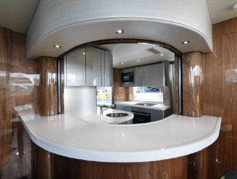 The new Galley layout introduces a more informal breakfast bar dining option